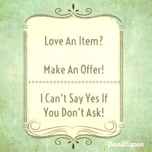 Love the item? Make me an offer.